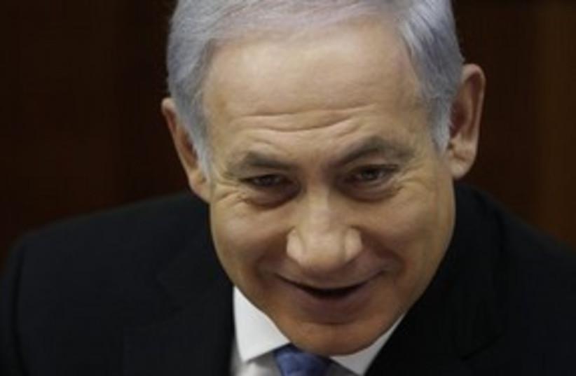 Netanyahu scary grin 311 AP (photo credit: AP)
