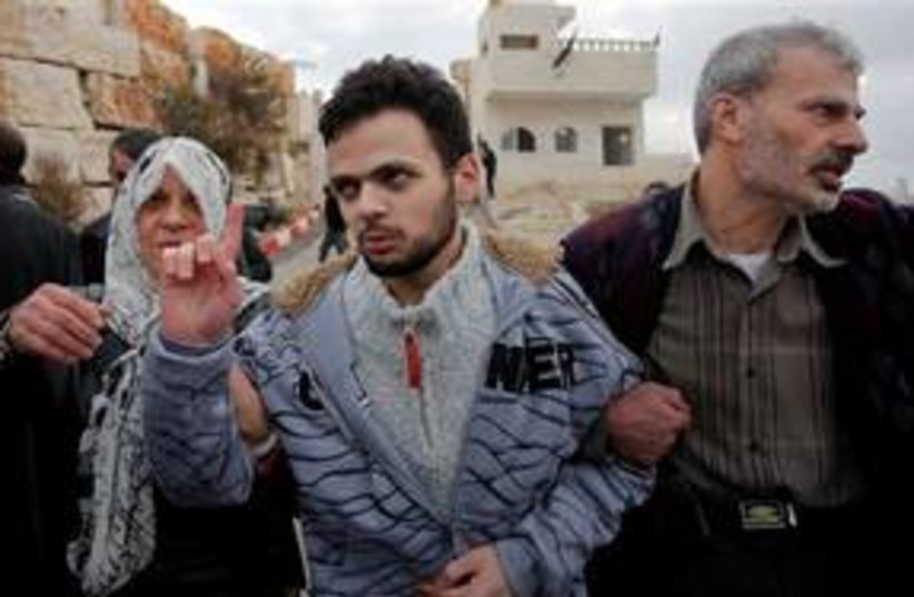 Hamas prisoner released from PA jail, rearrested 311 AP (photo credit: AP)