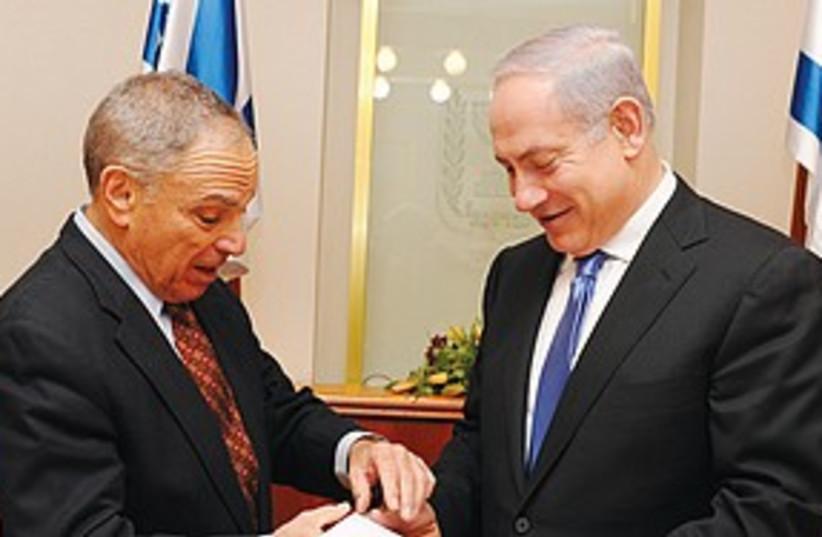 sheshinski and netanyahu_311 (photo credit: (Moshe Milner/Government Press Office))