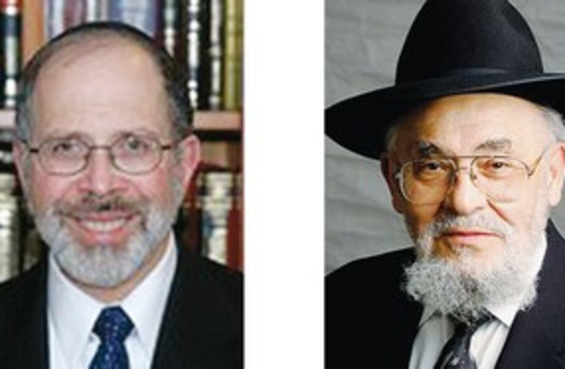RABBI SHMUEL Goldin & Rabbi Dr. Moshe D. Tendler 311 (photo credit: Courtesy)