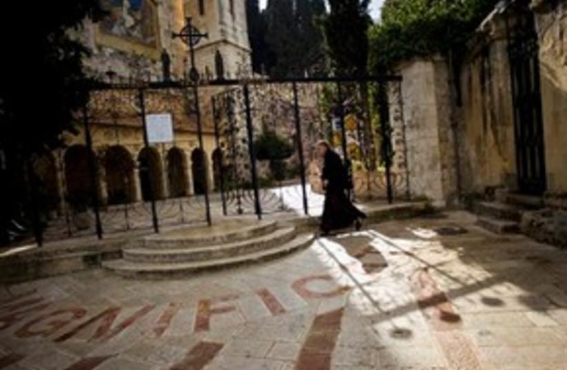 Visitation Church in Jerusalem's Ein Kerem quarter 311 (photo credit: Bernat Armangue/AP)