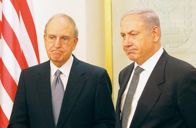Netanyahu and George Mitchell 521 (photo credit: marc israel sellem)