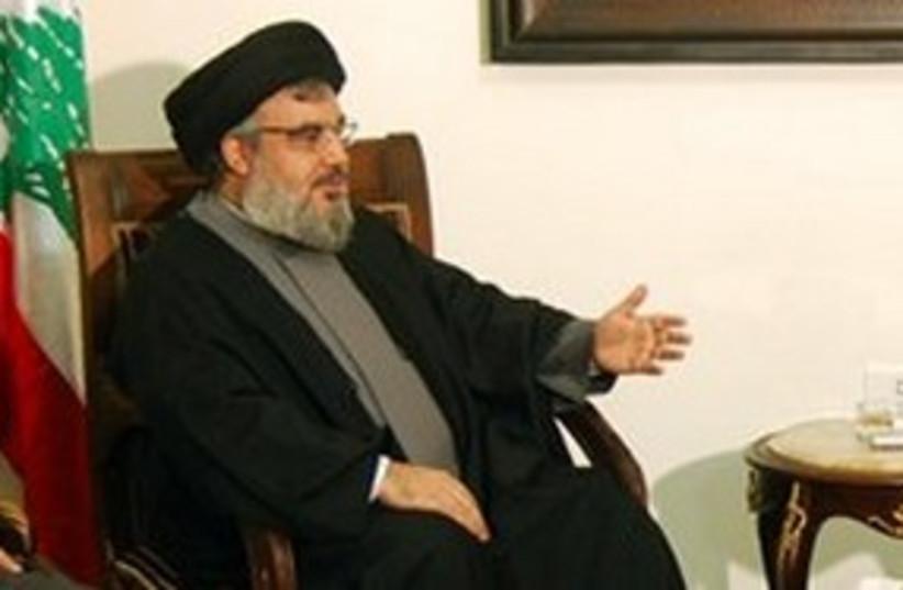 Hizbullah leader Hassan Nasrallah 311 AP (photo credit: AP)