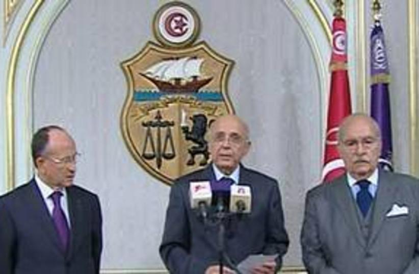 Tunisian Prime Minister Mohammed Ghannouchi 311 AP (photo credit: AP)
