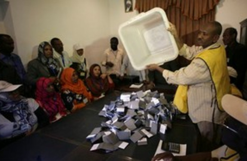 Sudan voting 311 AP (photo credit: AP)