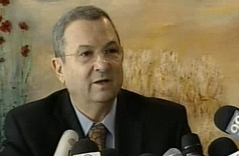 Barak press conference 311 (photo credit: Channel 10)