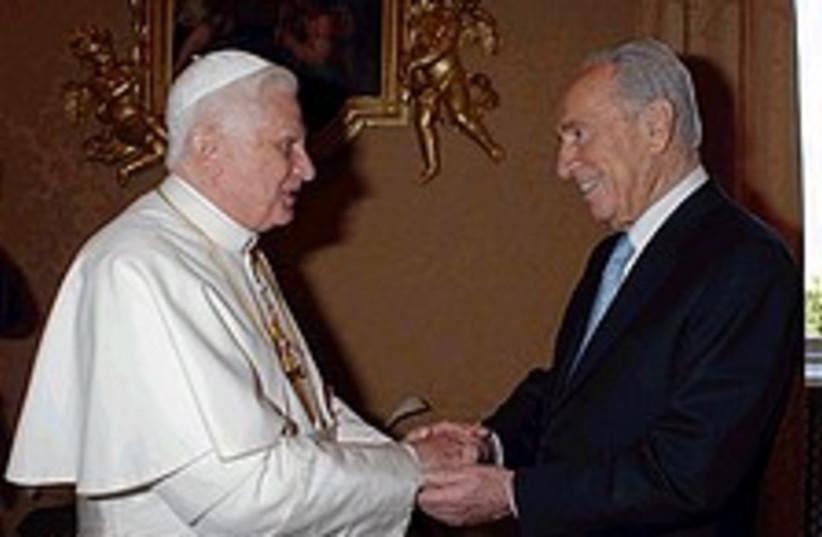 pope peres 224.88 (photo credit: AP/ L'Osservatore Romano)