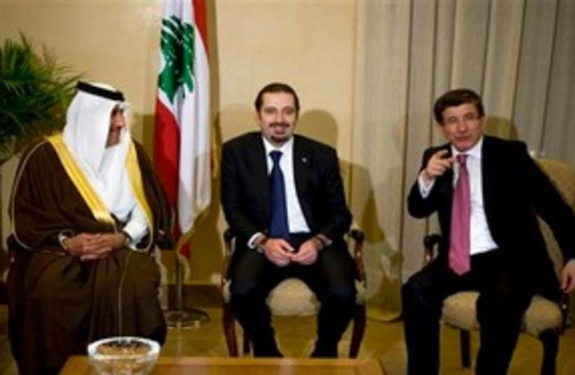 hariri al thani_311 (photo credit: ASSOCIATED PRESS)