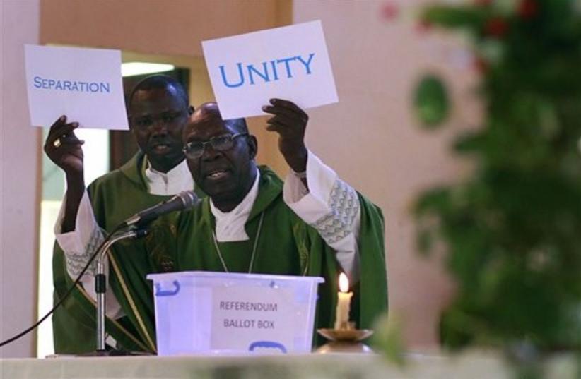 South Sudan Independence Referendum (photo credit: ASSOCIATED PRESS)