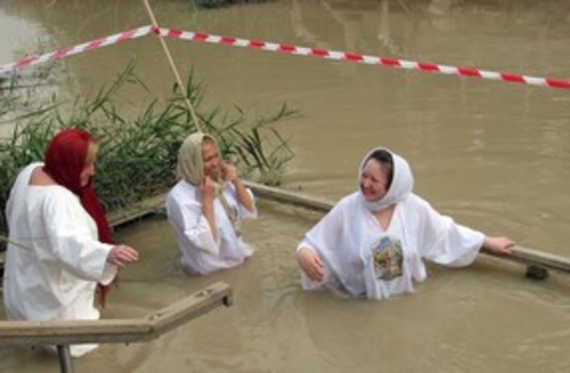 Jordan Baptism 311 (photo credit: RON FRIEDMAN)