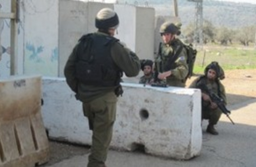 IDF checkpoint 311 (photo credit: Courtesy)