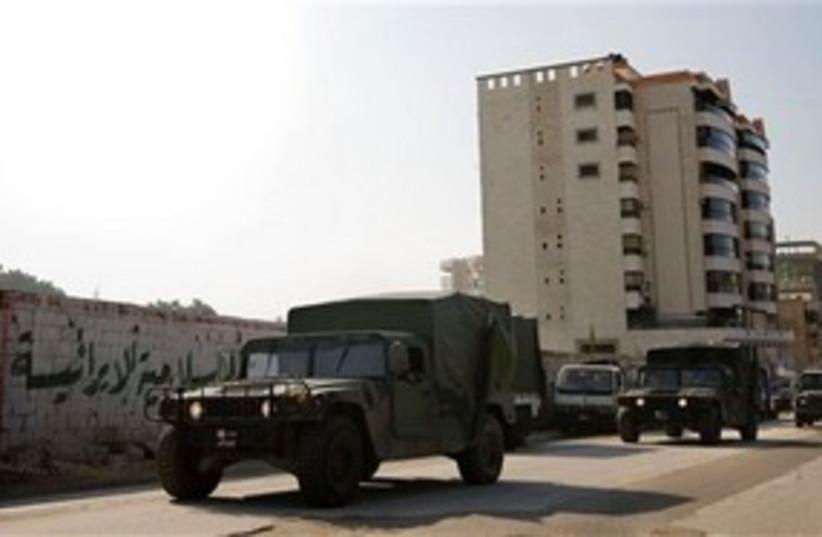 Tank in Beirut 311 AP (photo credit: AP)