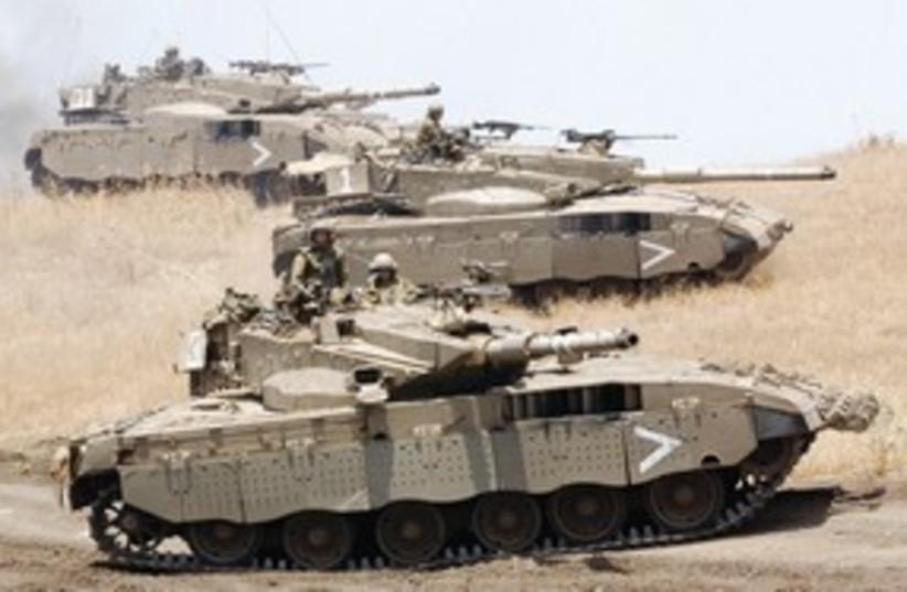 Tanks 311 (photo credit: Ariel Jerozolimski)