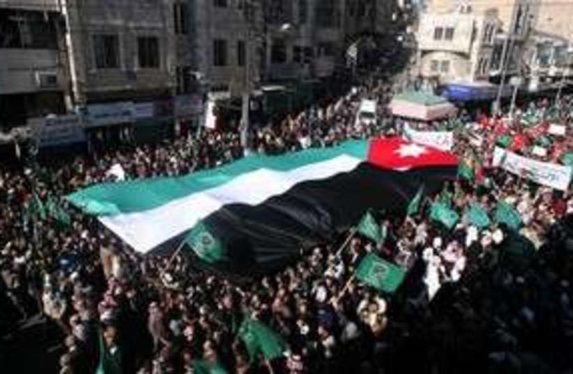 Jordan protests 311 AP (photo credit: AP)