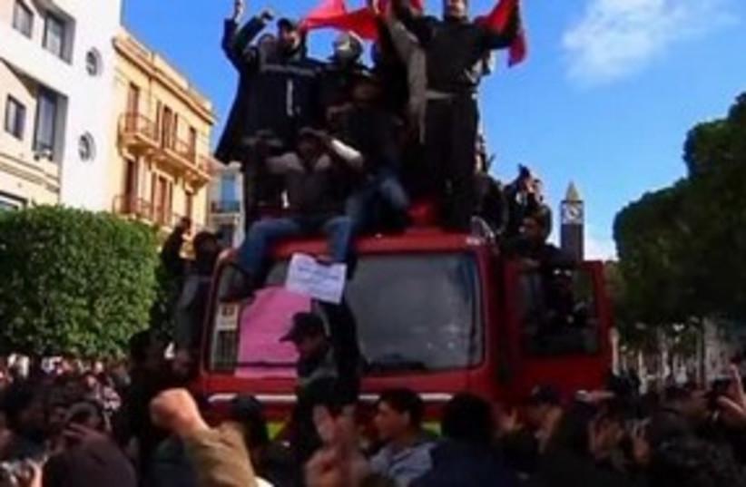 Tunisia riots 311 (photo credit: REUTERS)