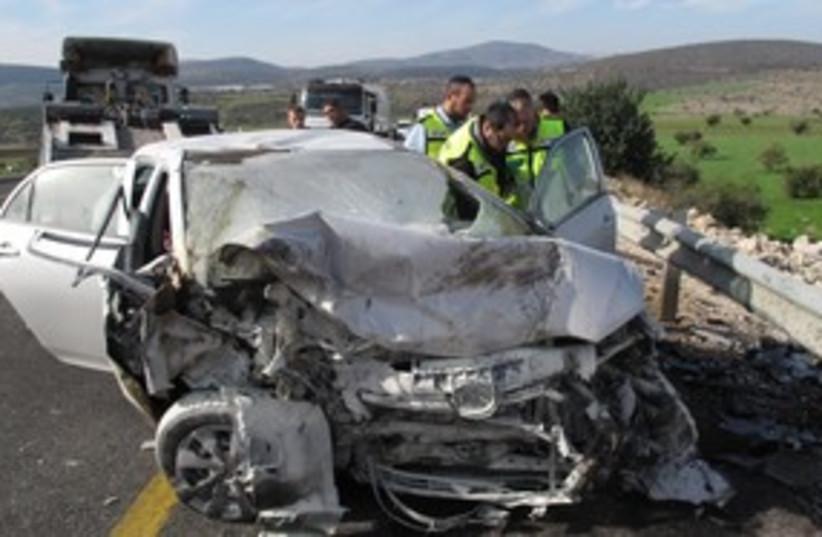 Deadly car accident 311 (photo credit: ZAKA / Tzvika Level)