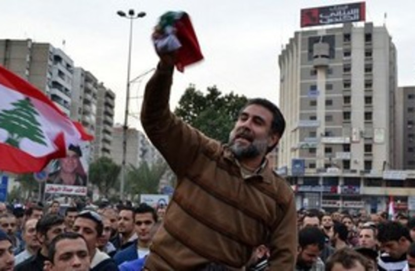 Tripoli sunni protests 311 (photo credit: AP)
