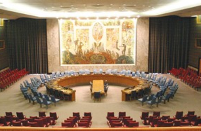 United Nations Security Council chamber 311 (photo credit: Patrick Gruban/WikiCommons)