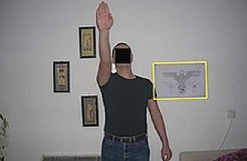 Hitler salute 248.88 (photo credit: Israel Police)