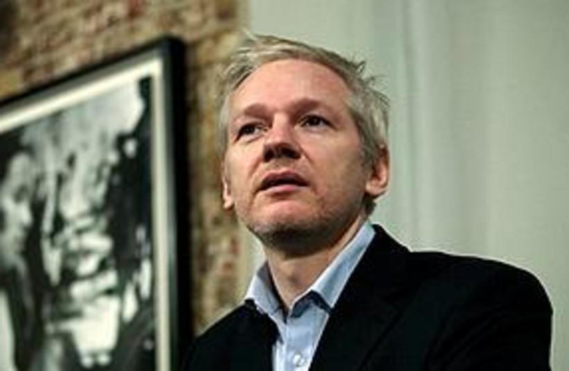 Assange looking wistful 311 (photo credit: Associated Press)