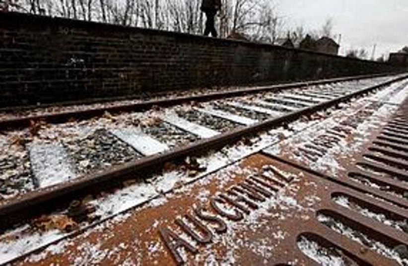 auschwitz train tracks 311 (photo credit: Associated Press)