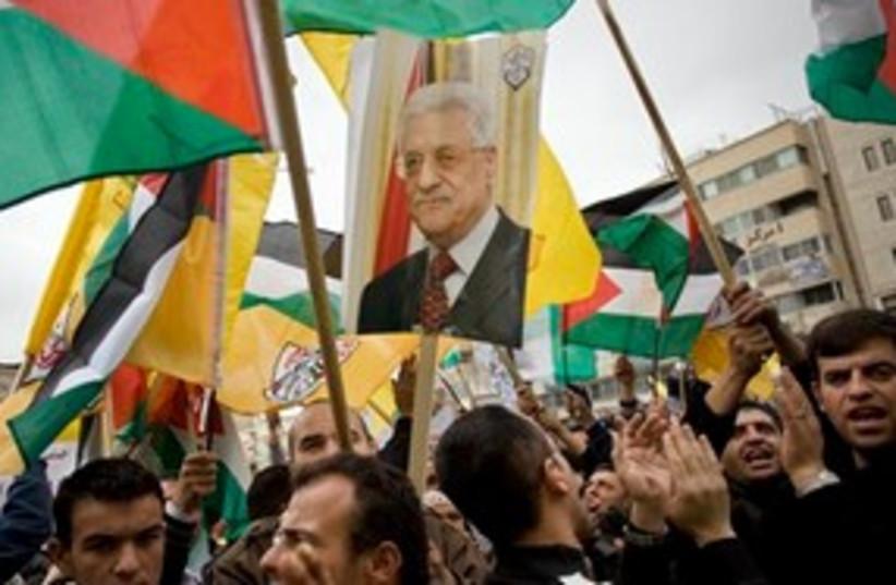 Pro Fatah rally 311 (photo credit: AP)