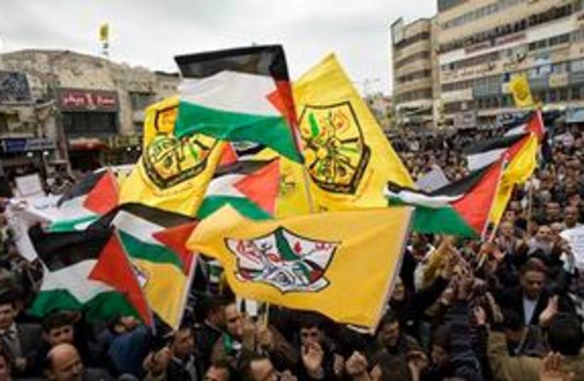 Fatah flags 311 (photo credit: AP)