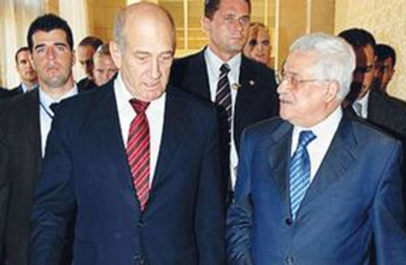 Olmert and Abbas 311 (photo credit: AP)