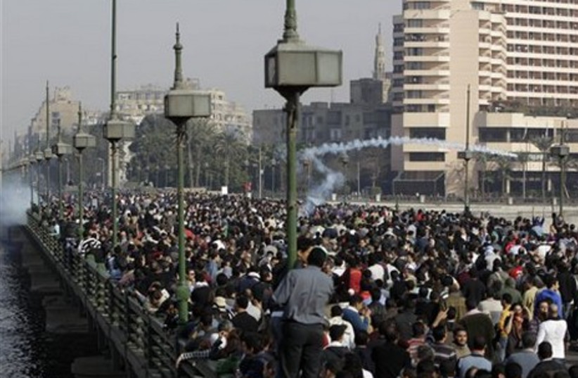 Egyptian anti-government protesters in Cairo