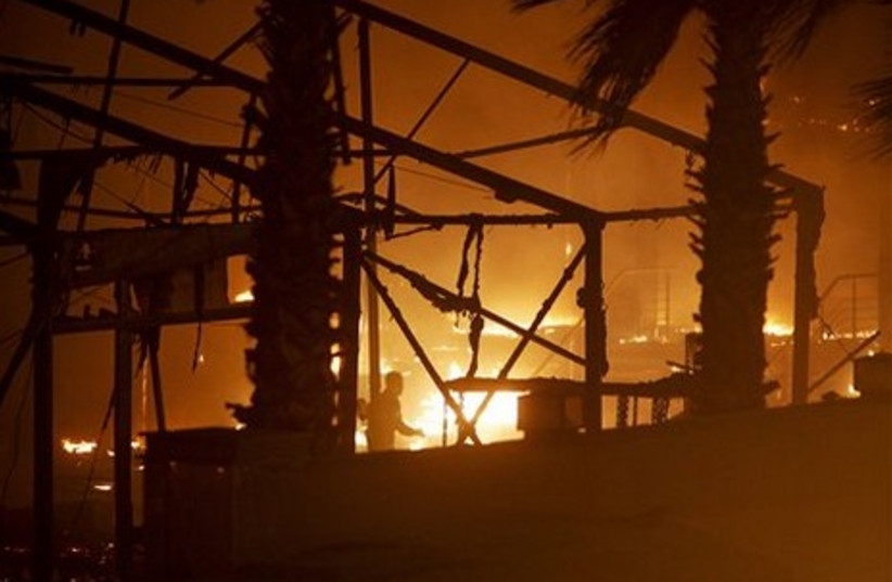 Egyptian anti-government protests fires in Cairo