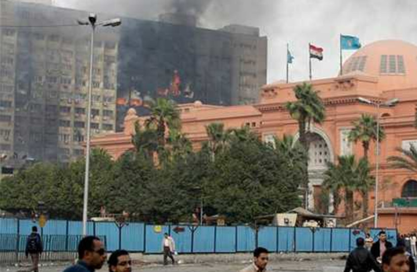 The Egyptian museum is seen intact
