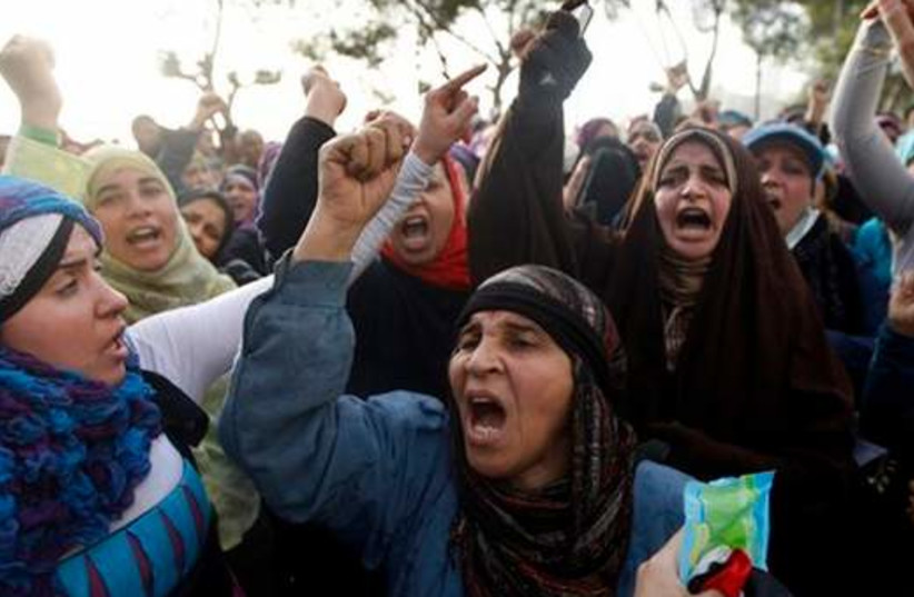 Egyptian women protest in Cairo