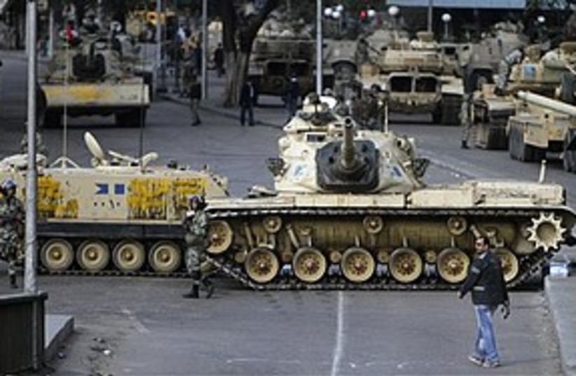 Egypt tanks 311 AP (photo credit: Associated Press)