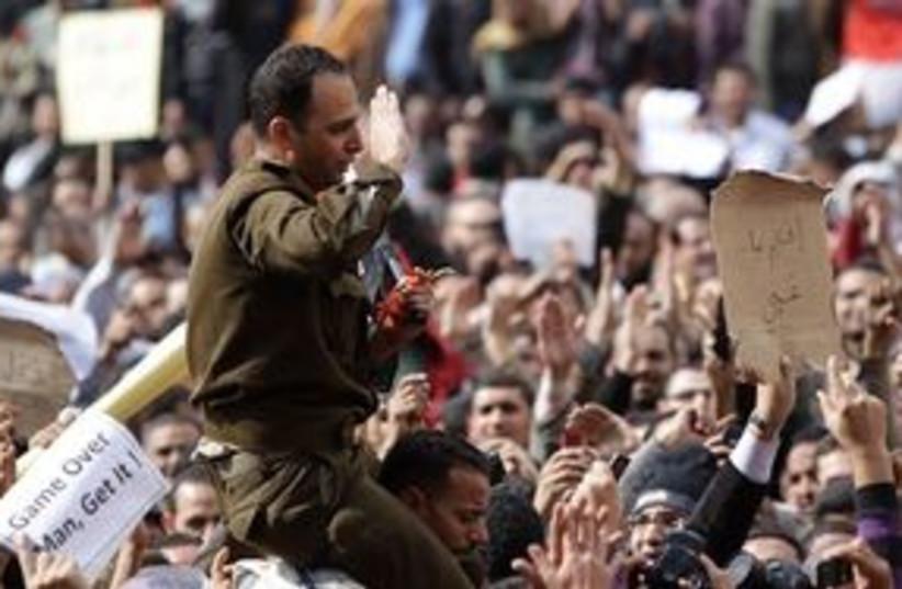 Tahrir Square crowds protesters 311 AP (photo credit: AP)