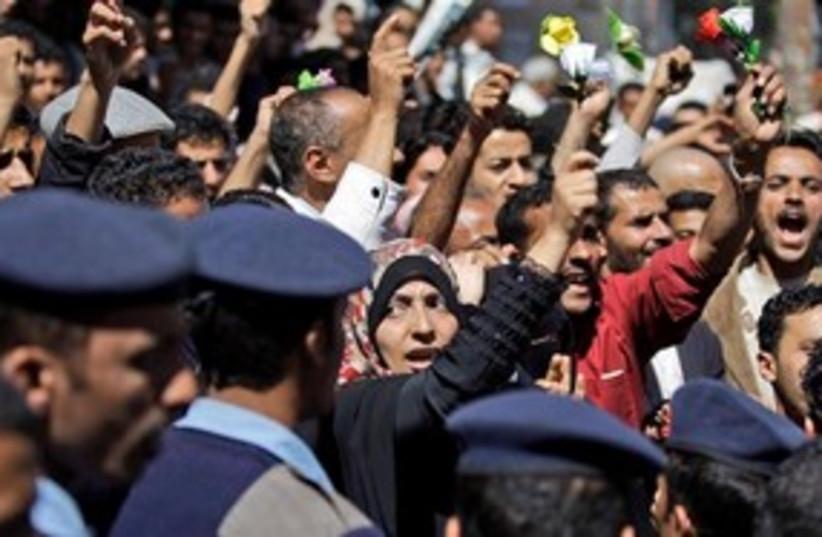 Yemen protests 311 (photo credit: AP)