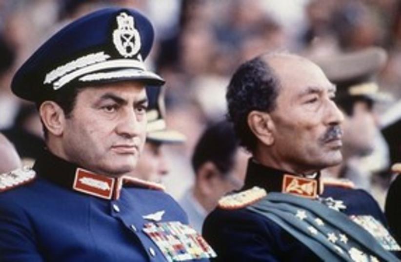 Mubarak with Sadat 311 (photo credit: Associated Press)