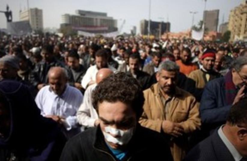 Egypt Friday Tahrir 311 (photo credit: AP Photo/Sebastian Scheiner)