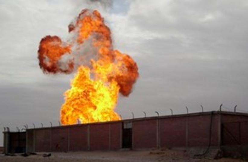 Gas Pipeline Blast 311 (photo credit: Associated Press)