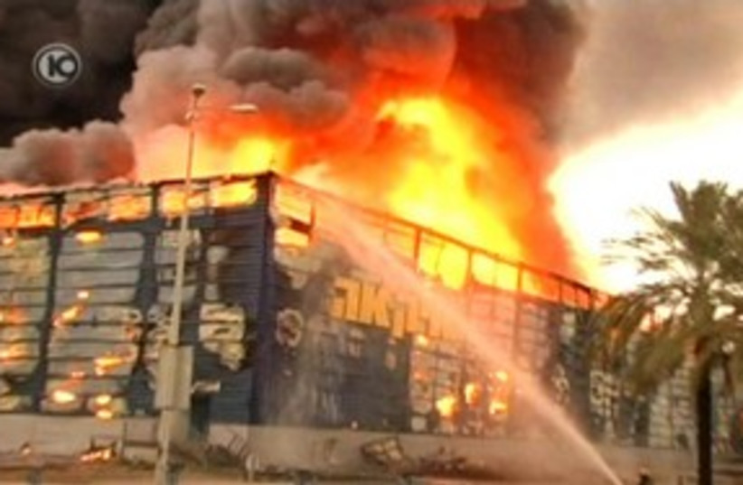 Ikea fire 311 (photo credit: Channel 10)
