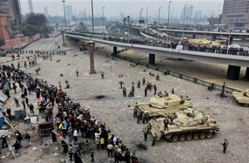 Egypt Protests Tanks 311 (photo credit: Associated Press)