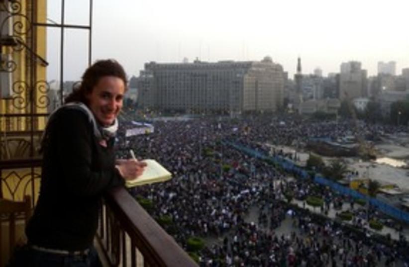 Melanie Lidman in Cairo's Tahrir Square 311 (photo credit: MELANIE LIDMAN)