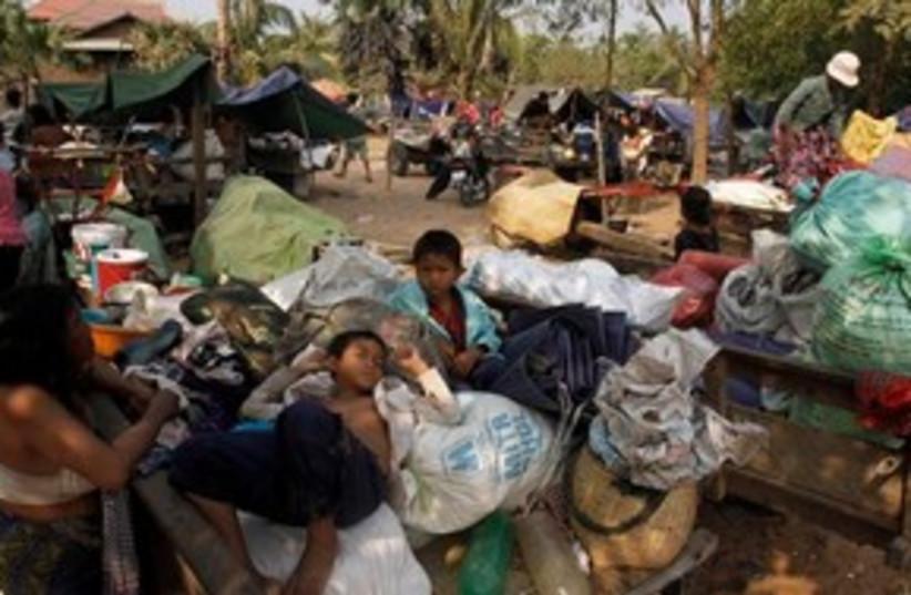 Cambodia Thailand refugees 311 (photo credit: AP Photo/Heng Sinith)