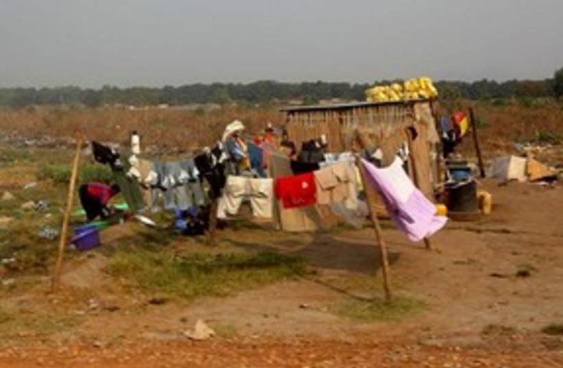 Shack in Juba, Southern Sudan 311 AP (photo credit: AP)