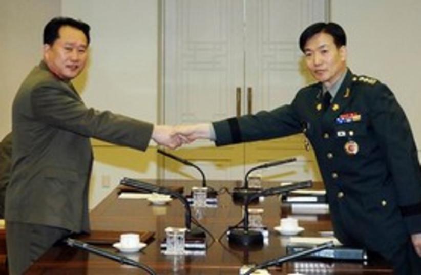 North Korea South Korea meeting 311 (photo credit: Associated Press)
