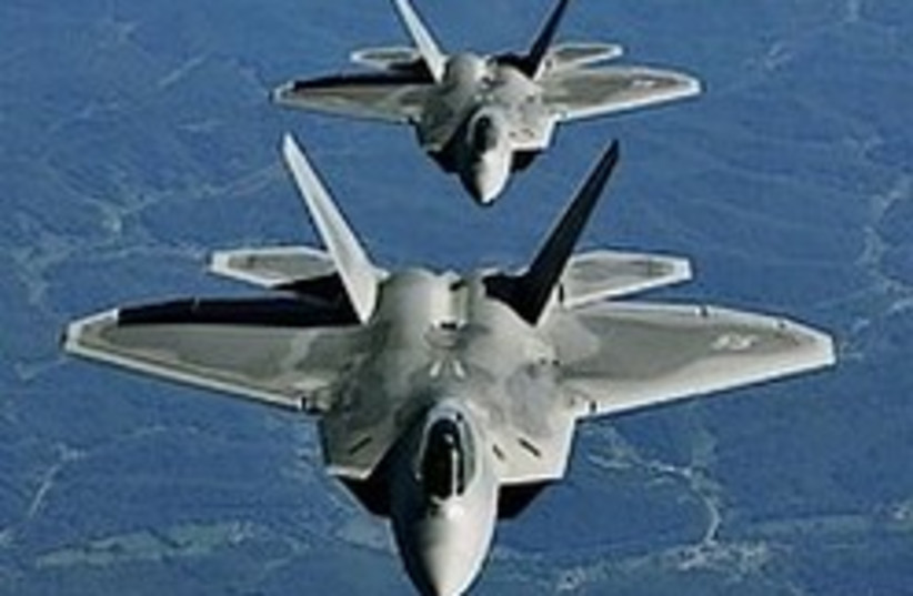 The F-22 stealth bomber. (photo credit: AP)