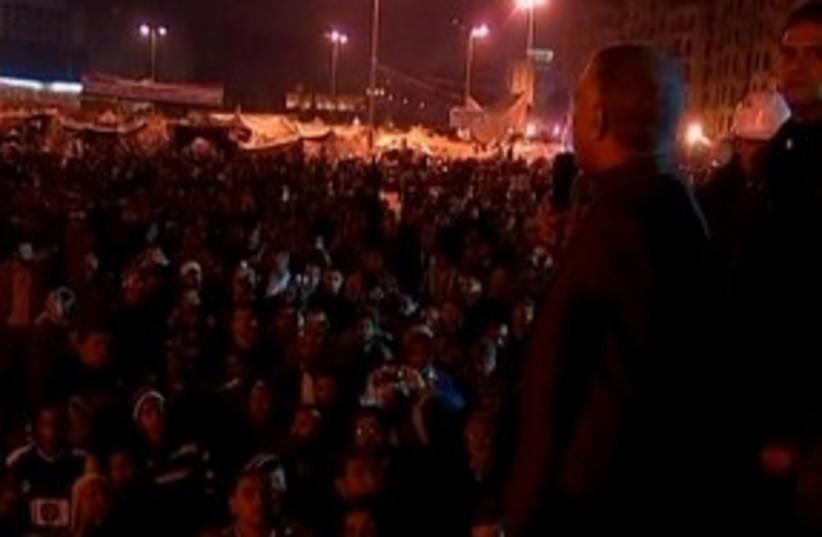 Cairo night demonstrations 311 (photo credit: REUTERS)