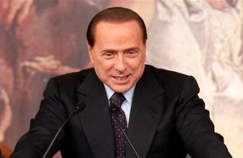 Italian Premier Silvio Berlusconi 311 AP (photo credit: AP)