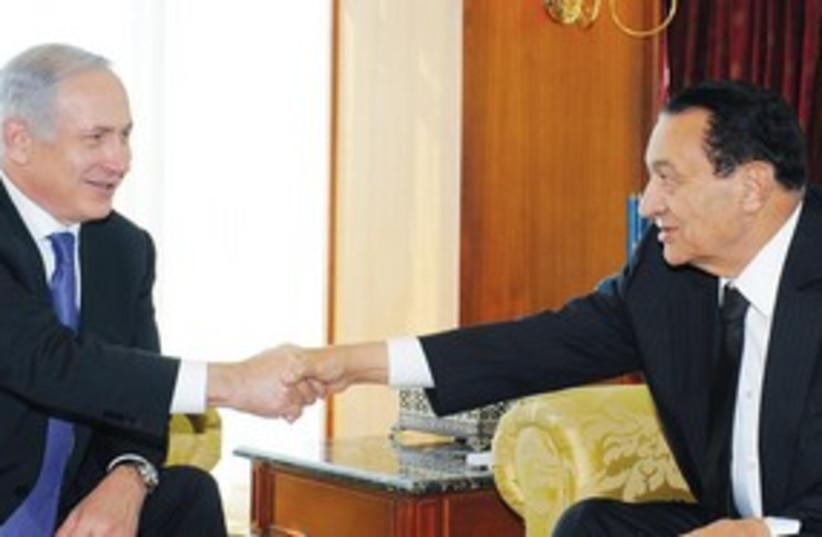 netanyahu and mubarak 311 (photo credit: GPO)