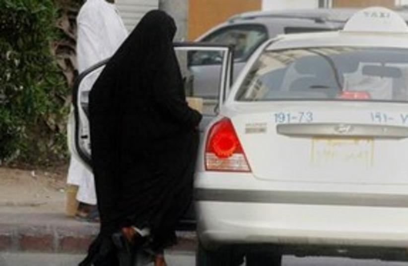 Saudi Arabian woman car driving 311 AP (photo credit: AP)