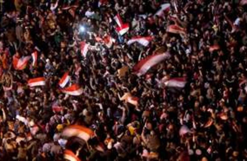 Egypt protestsTahrir with flags  311 (photo credit: AP Photo/Emilio Morenatti)